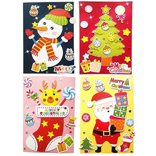 Christmas Card Making Kits (Card Making Kits DIY Handmade Greeting Card Kits for Kids, Christmas Card Folded Cards and Matching Envelopes Thank You Card Art Crafts Crafty Set Gifts for Girls)