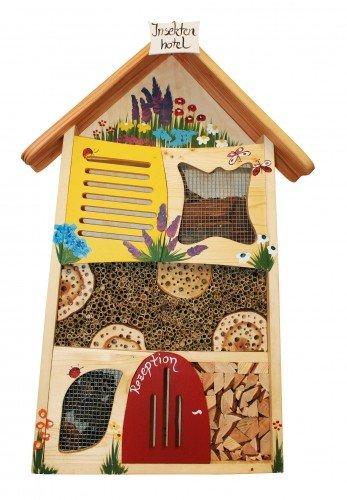 Insektenhotel handbemalt 72x47x15 cm Die Vogelvilla