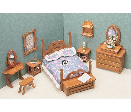 toys & games, dolls & accessories, dollhouse accessories,  furniture  discount, Greenleaf Dollhouse Furniture Kit for Bedroom in US1
