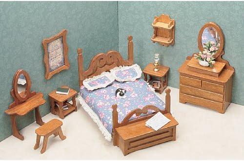 picture of Greenleaf Dollhouse Furniture Kit for Bedroom