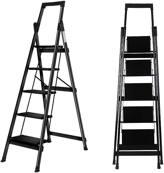 Silla con Taburete para Adultos y niños, 5 Capas Escalera de Madera Altura Ajustable Cocina Reposapiés Reposapiés Antideslizante Taburete de Paso Carga máxima 150 kg: Amazon.es: Hogar