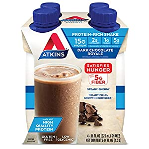 Well-Being-Matters 513nIwuk%2BQL._SS300_ Atkins Dark Chocolate Royale Protein-Rich Shake. Rich and Creamy with Protein. Keto-Friendly and Gluten Free. (4 Shakes)