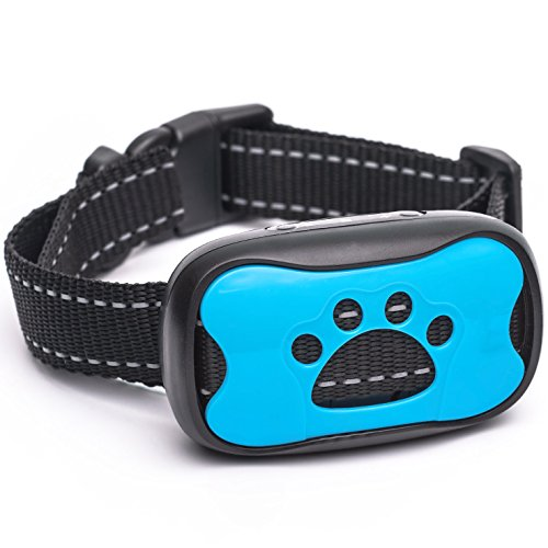 Dog Bark Collar 2018 Model - Humane Training Collar - Vibration No Shock Anti Bark Collar for Small Medium Large Dogs - 15 -100lbs - Safe Pet Device Bark Control - Deluxe Little Dog Trainer