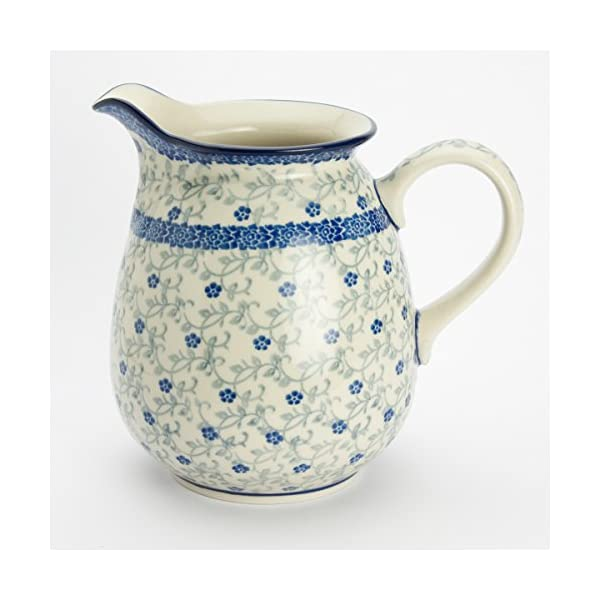 Polish Pottery Jug Pitcher – Forget-me-not – 900ml