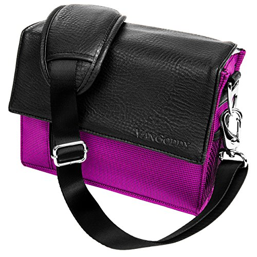 (Mini Metric Purple Camera Bag for Panasonic LUMIX DMC GH4K GH4K EB FZ48 FZ62 FZ150 FZ200 LZ20 LZ30 LZ40 FZ47 DSLR Camera)