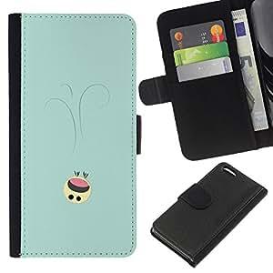 LECELL--Cuero de la tarjeta la carpeta del tirón Smartphone Slots Protección Holder For Apple Iphone 5C -- Lindo Smiley --