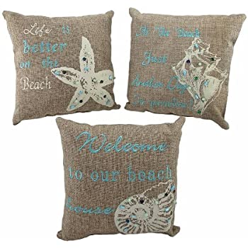Amazon Set Of 40 Beach Themed Accent Pillows 40 In Nautical Fascinating Beach Themed Decorative Pillows