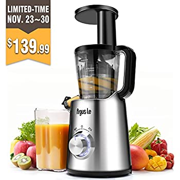 Argus Le Slow Masticating Juicer, High Juice Yield With Drier Pulp, Easy  Cleaning And