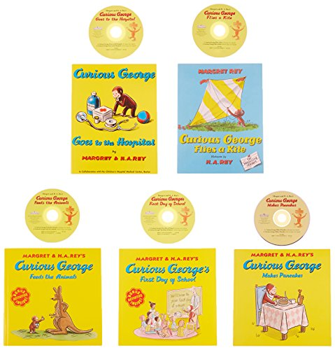 houghton-mifflin-harcourt-9780547422596-curious-george-book-set-with-cd-pack-of-5
