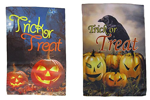 ALBATROS 12 inch x 18 inch Happy Halloween #8 Vertical Sleeve Flag for Garden for Home and Parades, Official Party, All Weather Indoors Outdoors for $<!--$35.56-->