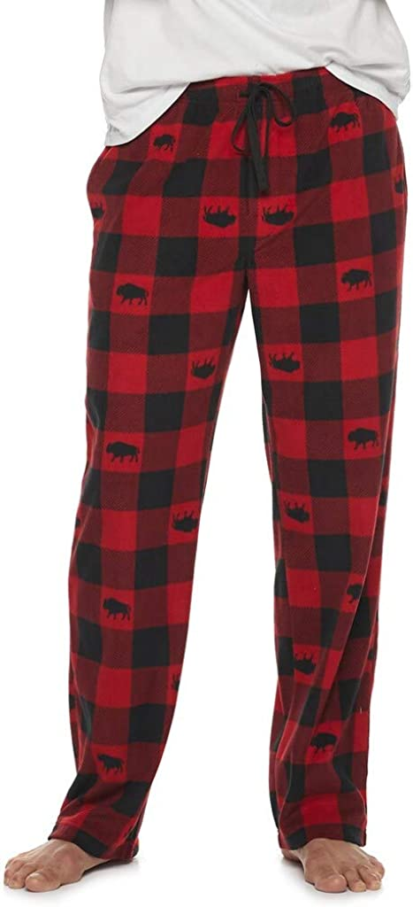 Croft & Barrow Men's Ultra-Soft Brushed Microfleece Sleep Bottoms Lounge Pajama Pants