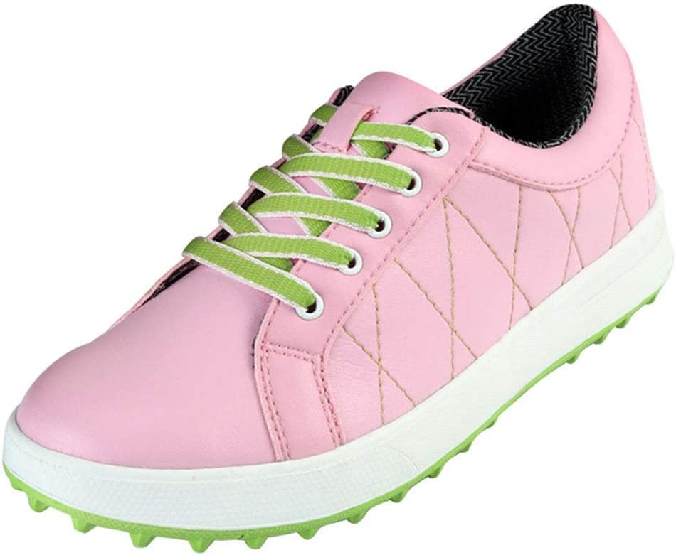 UICICI Zapatillas de Golf Zapatillas Deportivas ultraligeras Zapatillas de Golf Impermeables (Color : Rosado, Size : 34): Amazon.es: Hogar