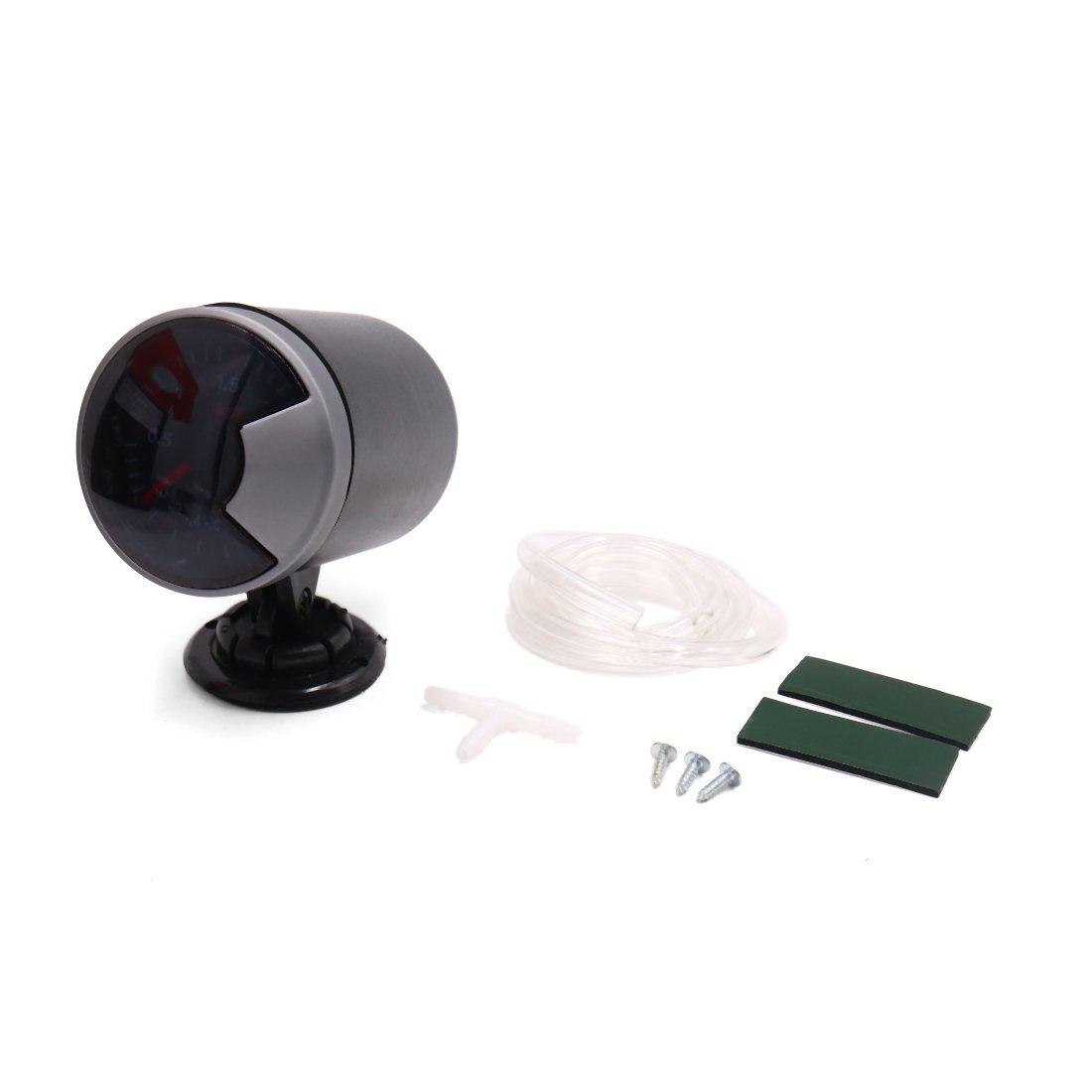 uxcell -1 to 2 Bar 2.7'' 68mm Dia LED Light Car Pointer Oil Pressure Gauge Meter w Bracket