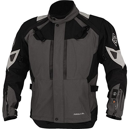 (Firstgear 37.5 Kilimanjaro Textile Jacket, Distinct Name: Gray/Black, Gender: Mens/Unisex, Primary Color: Gray, Size: 2XL, Apparel Material: Textile, Size Modifier: Regular)