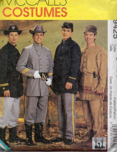 [McCalls 9425 Mens Civil War Uniform and Frontiersman Costume Pattern Sewing Pattern Size Large, X Large] (Size 28 Costumes)