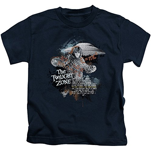 Trevco Twilight Zone-Science&Superstition - Short Sleeve Juvenile 18-1 Tee - Navy, Small - Superstitions Mall
