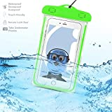 Binatone HomeSurf 7 Tablet Green TRANSPARENT Underwater Protection Touch Responsive Dry Bag Case Cover for Binatone HomeSurf 7 Tablet