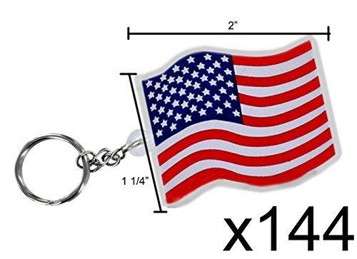 Rhode Island Novelty USA Flag Key Chains (144 pc)