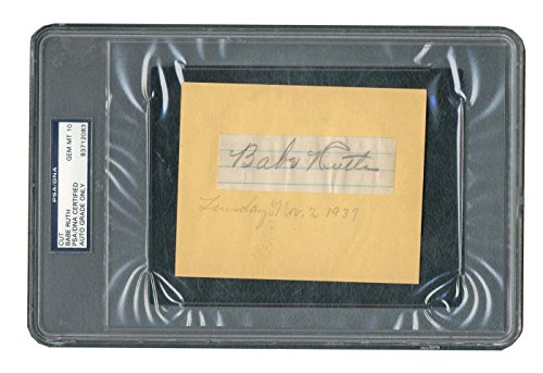 Yankees Babe Ruth Signed 1.2x3.5 Cut Signature Auto, used for sale  Delivered anywhere in USA