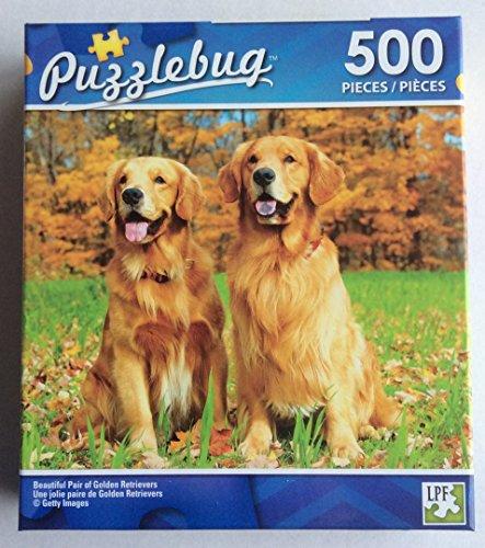 Puzzlebug 500 pieces Beautiful Pair Of Golden Retrievers