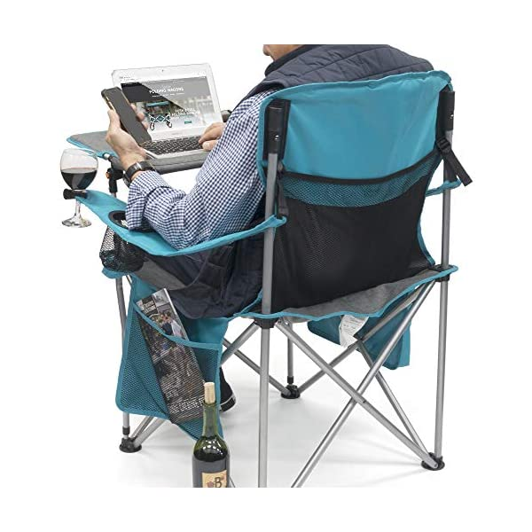 Camping Chair with Laptop Table