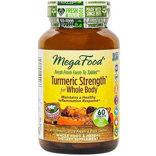 Tablets Support Thyroid 60 - MegaFood - Turmeric Strength for Whole Body, Supports Healthy Aging, 60 Tablets (FFP)