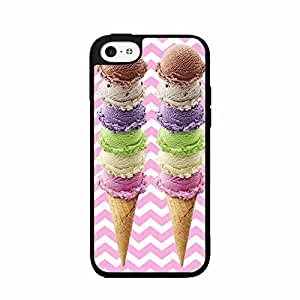 XiFu*MeiIce Cream Cones Plastic Phone Case Back Cover iPhone 5cXiFu*Mei