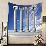 Gzhihine Custom tapestry Pillar Decor Tapestry Historical Theme Gallery of Pillars at Agra Fort India Digital Image for Bedroom Living Room Dorm Light Coffee Beige