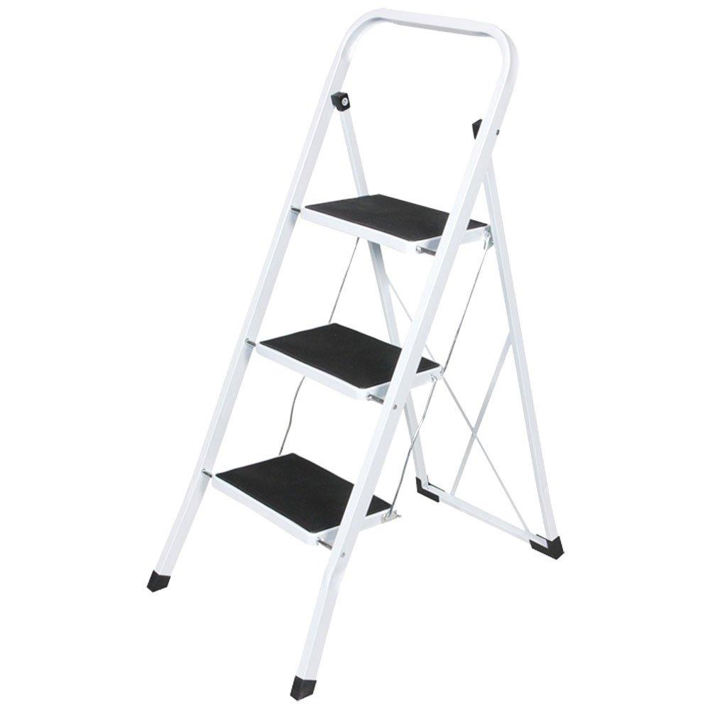 3 TREAD SAFETY NON SLIP FOLDING STEP LADDER STEPLADDER BARGAINS-GALORE