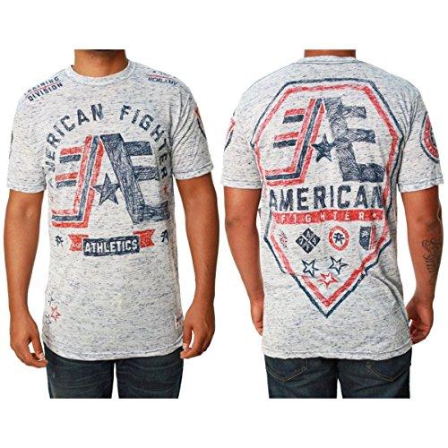 Des Stony Brook Skizzen kurzen Ärmels der American Fighter Männer Grafik T Shirt
