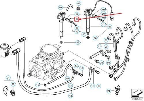 5er-Serie E39 Überlauf-Ölleitungsanschluss 13532247157 2247157