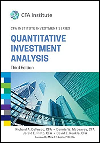 Amazon.Com: Quantitative Investment Analysis (Cfa Institute