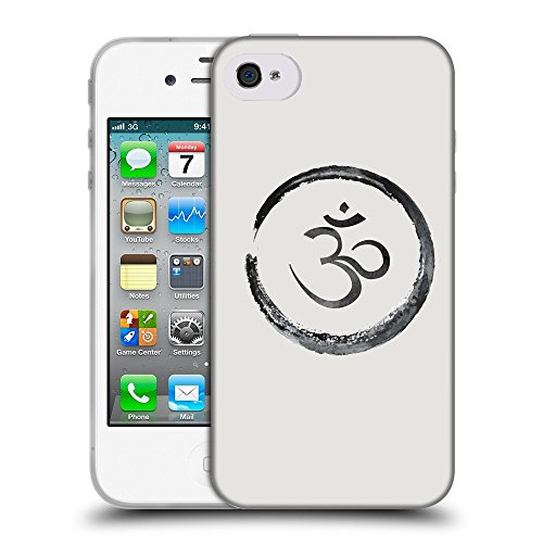 GoGoMobile Coque de Protection TPU Silicone Case pour // Q07660631 Bouddha 1 Platine // Apple iPhone 4 4S 4G
