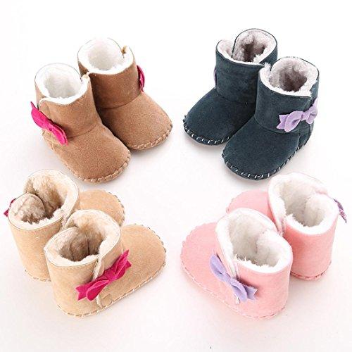 Baby Stiefel, BZLine® Baby Winter Warm Soft Bowknot Soft Sole Warm Shoes Boots Stiefel Kaffee