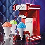 Smart Retro Single Snow Cone Maker Red Slush Machine Slushie Maker Shaved Ice Machine Crushed Ice Ice Drinks