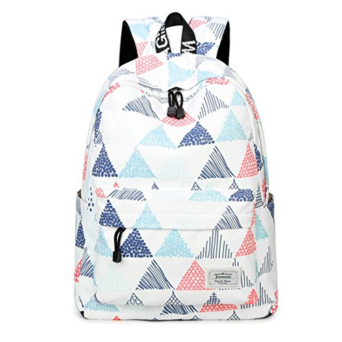 Amazon.com: Joymoze Waterproof Cute School Backpack for Boys and Girls Lightweight Chic Prints Bookbag Triangle: Toys & Games