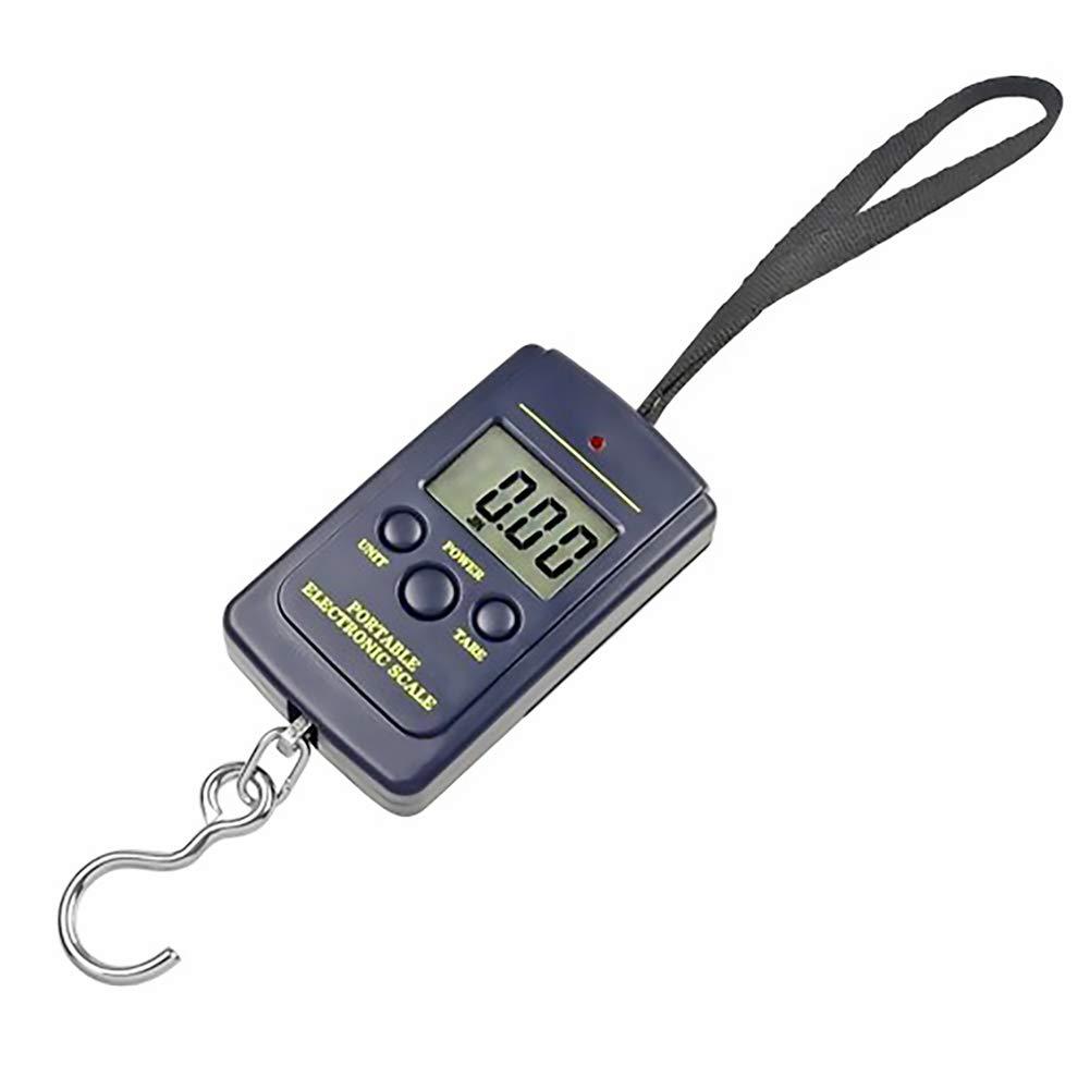 Ndier LCD Handheld Digital Scale Bilancia di precisione Deposito Backlight Portatile di Pesca della Scala di Pesci Gancio Appeso Peso della Tasca 88lb / 40kg Artivoli per Casa