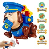 Electronic Pet Dog, Interactive Police Puppy Christmas Gift for Boys and Girls Age 2,3,4 Educational Remote Control Toy with Dance,Walking and Sounds