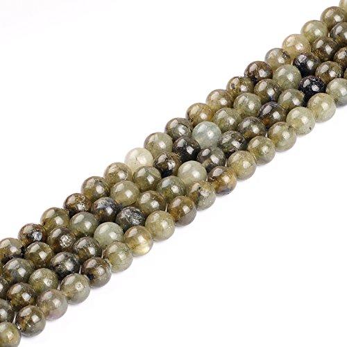 - Natural Stone Beads 10mm Labradorite Beads Gemstone Round Loose Beads Crystal Energy Stone Healing Power for Jewelry Making DIY,1 Strand 15