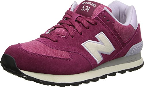 New Balance Classics Women's WL574 - Pennant Collection Burgundy ...