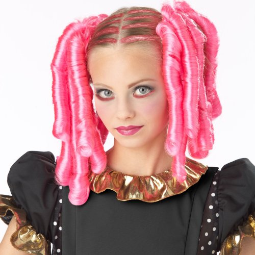 California Costumes 70699 Anime Curls with Hairscara, ACC, Pink (Goth Halloween Costumes For Kids)