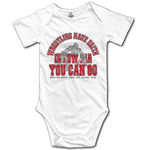 GUODONG Infant Wrestling Have Faith In How Far You Can Go Short Sleeve Unisex Baby Bodysuit Onesie by GUODONG