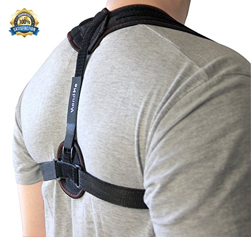 MendMe Back Support Posture Corrector for Women & Men - Adjustable Straps, Comfortable, Best Figure 8 Clavicle Brace Improves Bad Posture, Upper Back/Shoulder Pain Relief & Get Perfect Posture
