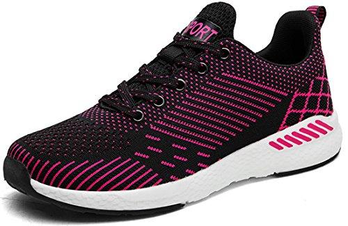 poids 1830 de 6 Mode Mixte Chaussures jogging Adulte Noir couleurs JOOMRA Rose léger w6q1vv