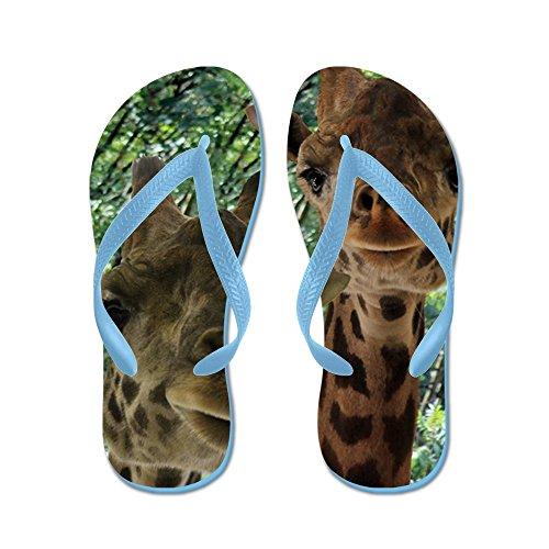 Cafepress Lewis - Flip Flops, Grappige Leren Sandalen, Strand Sandalen Caribbean Blue