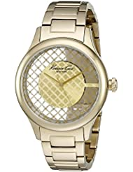 Kenneth Cole New York Womens Transparency Quartz Stainless Steel Dress Watch (Model: 10026010)