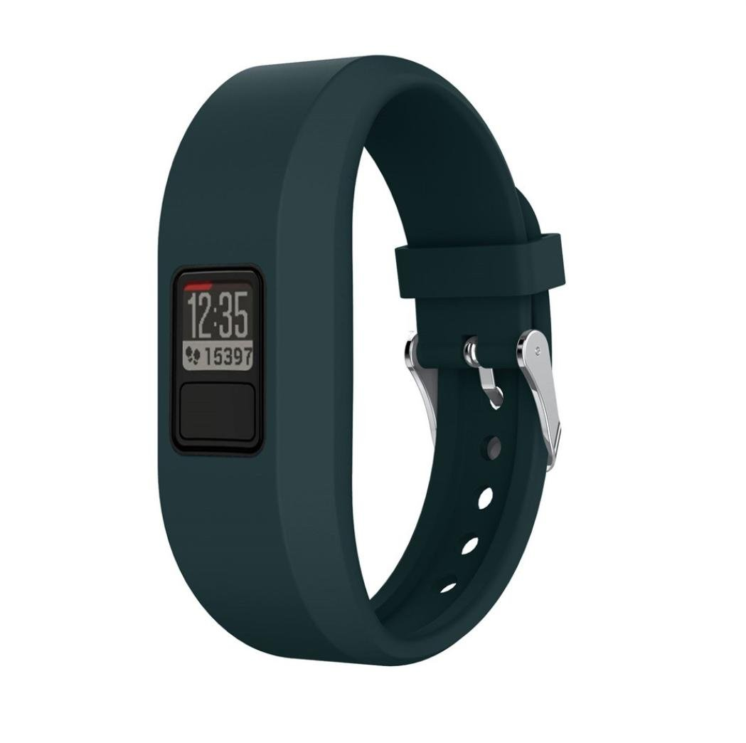 esharingファッションシリコン時計バンド交換用ストラップアクセサリーWristbands for Garmin Vivofit 3 / VivoFit Jr アーミーグリーン アーミーグリーン B07B2HPW3L