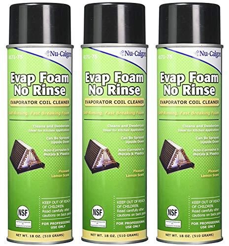 No Rinse Coil Cleaner - Nu-Calgon 4171-75 Evap Foam No Rinse Evaporator Coil Cleaner, 18 oz. (3-(Pack))