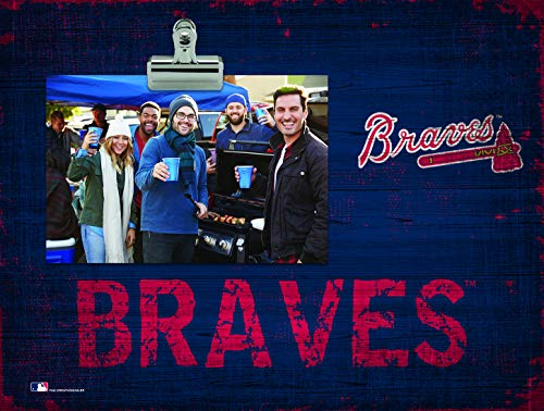 Fan Creations Atlanta Braves Team Name Clip-It Photo Frame
