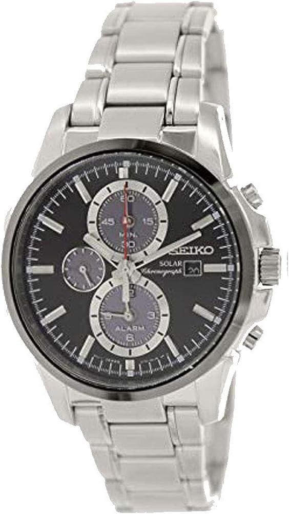 Seiko Men s SSC087 Analog Japanese-Quartz Silver Watch